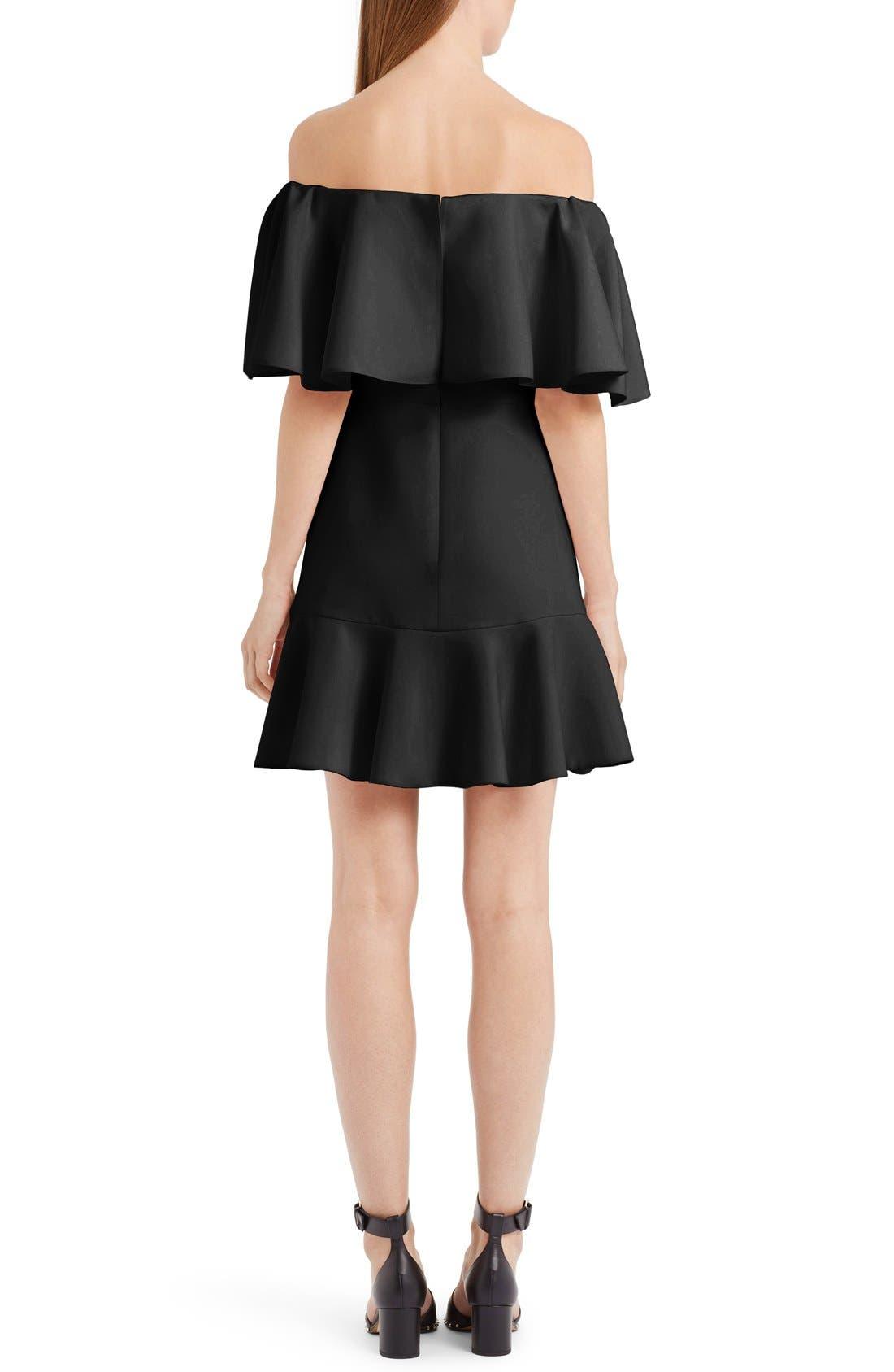 Alternate Image 2  - Valentino Flutter Hem Off the Shoulder Dress