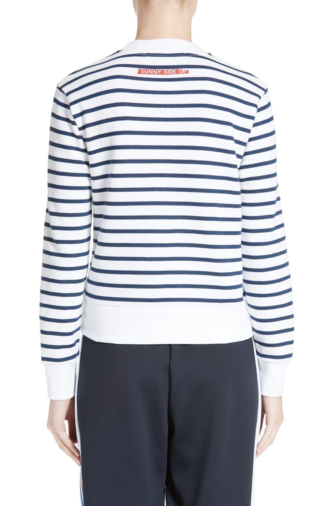 Alternate Image 2  - être cécile Sunny Side Up Stripe Graphic Sweatshirt