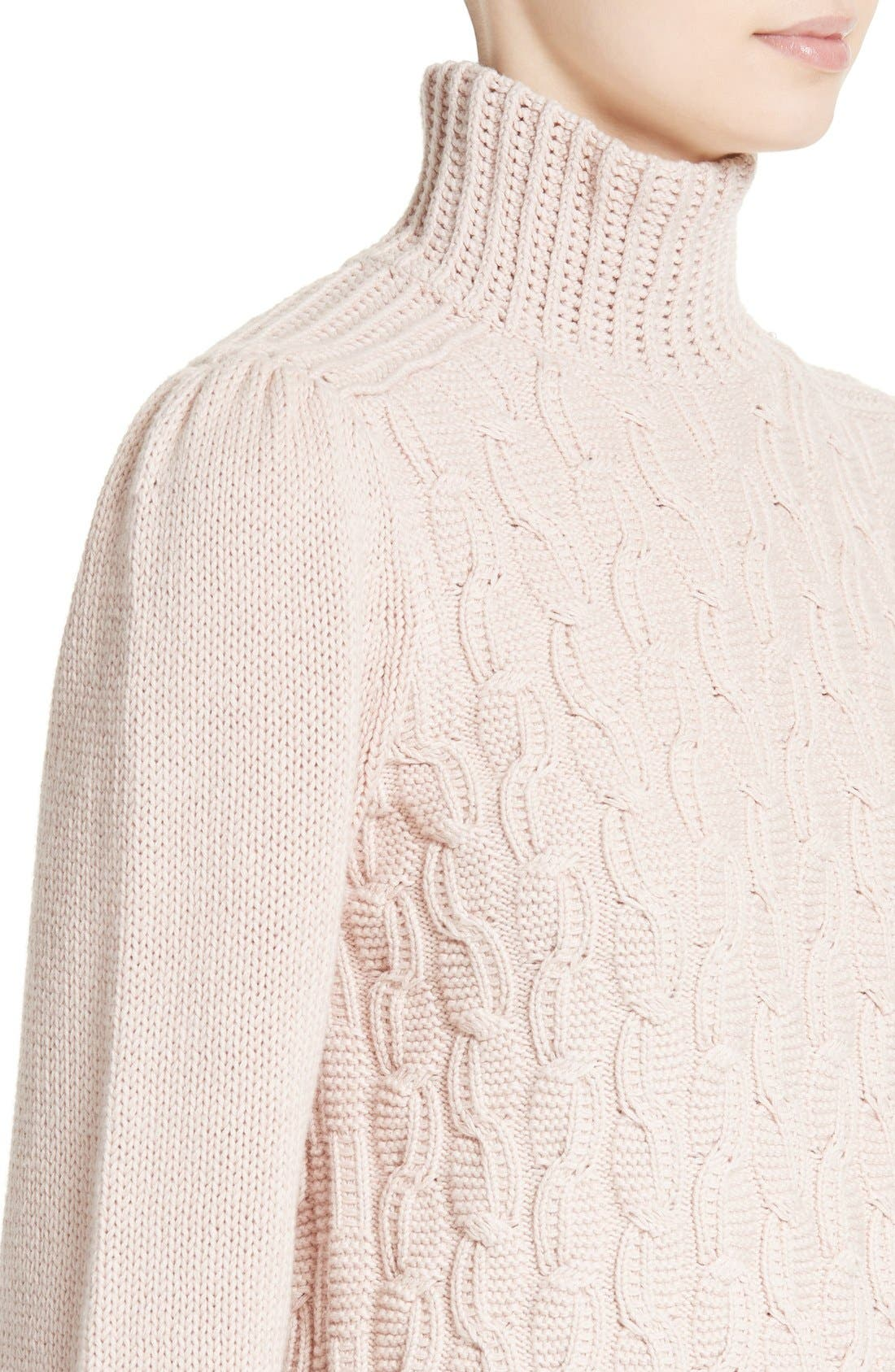 Alternate Image 4  - La Vie Rebecca Taylor Cable Knit Turtleneck Sweater