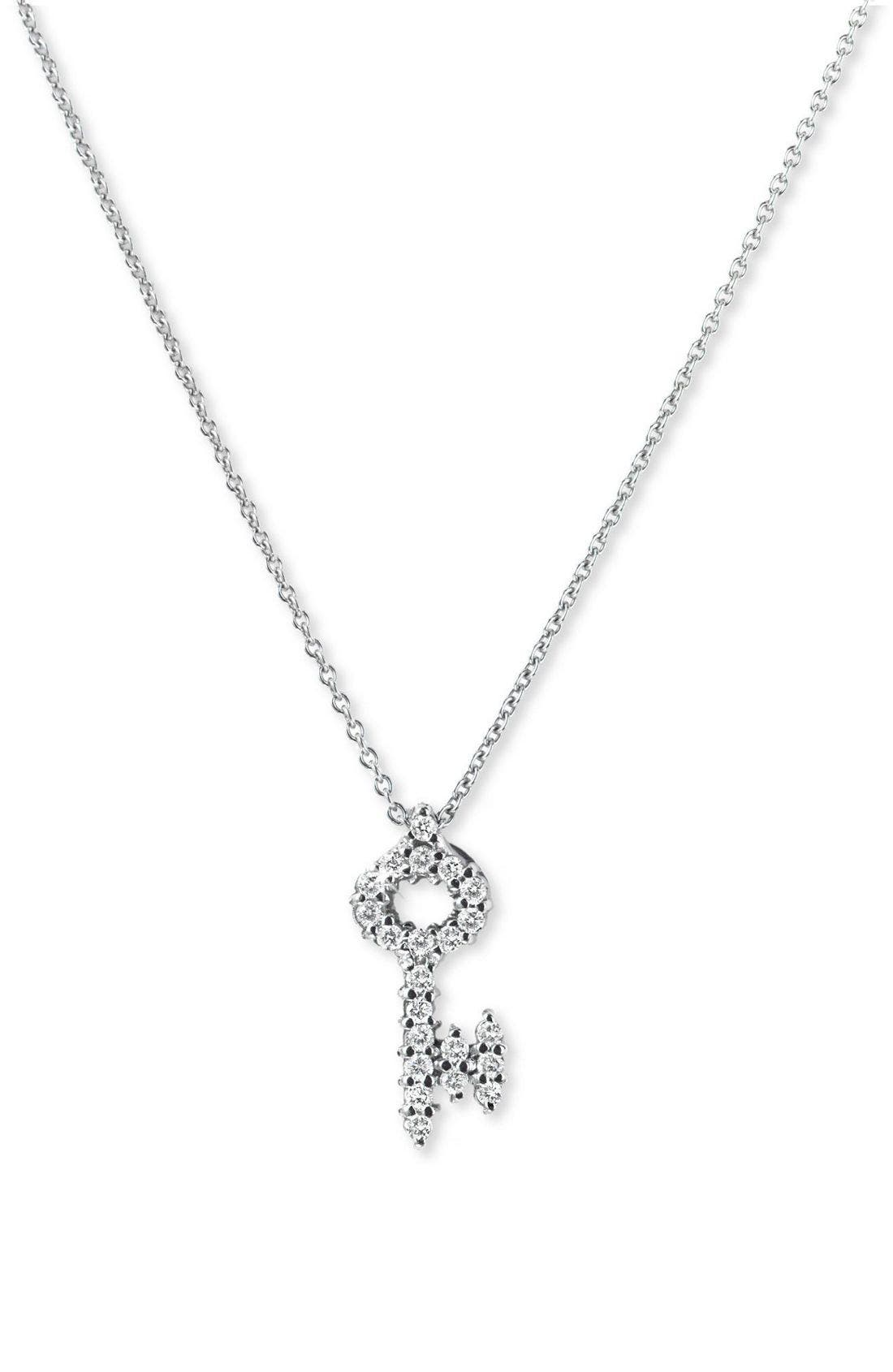 Alternate Image 1 Selected - Roberto Coin 'Tiny Treasures' Diamond Baby Key Necklace