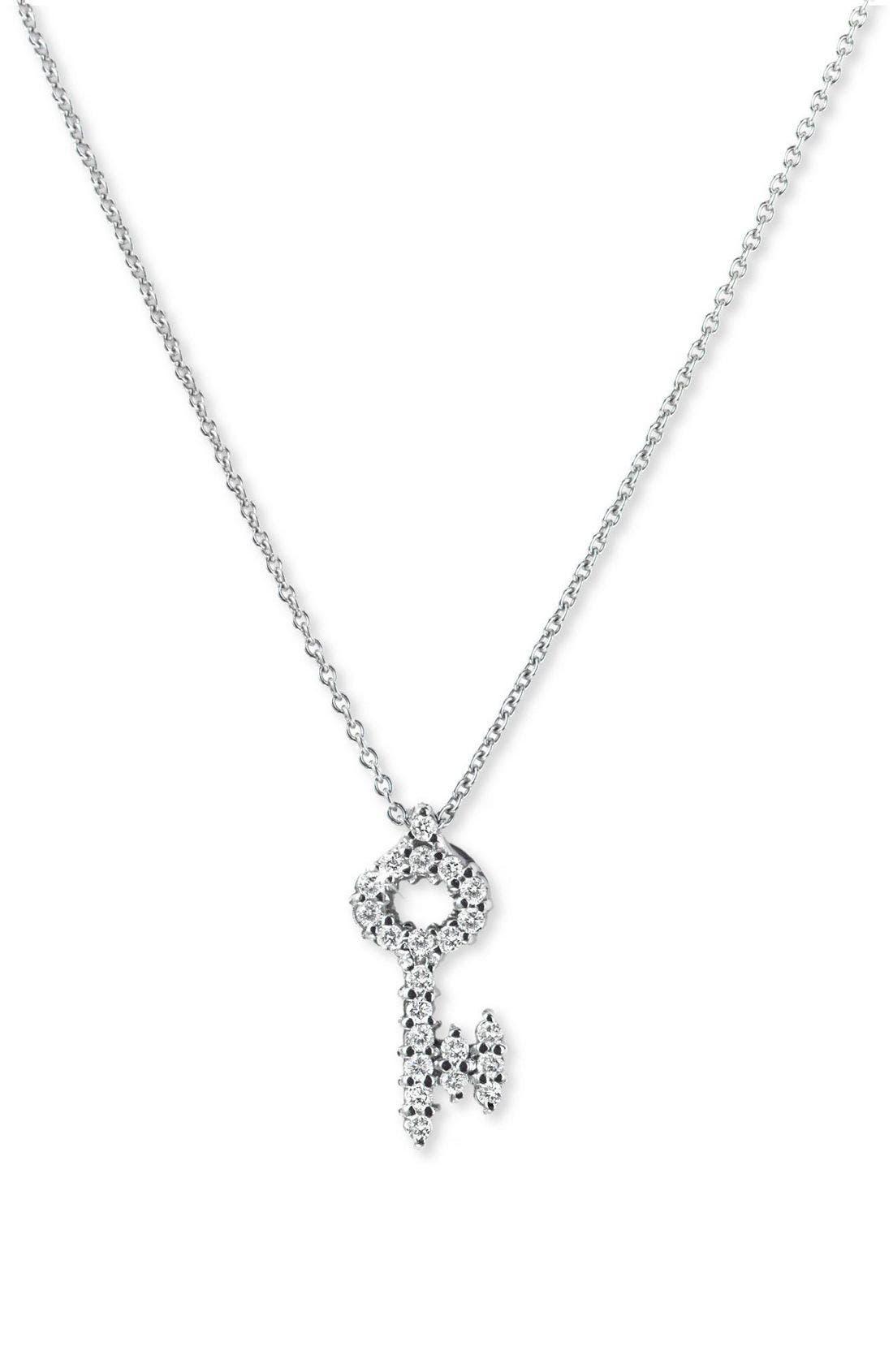 Main Image - Roberto Coin 'Tiny Treasures' Diamond Baby Key Necklace