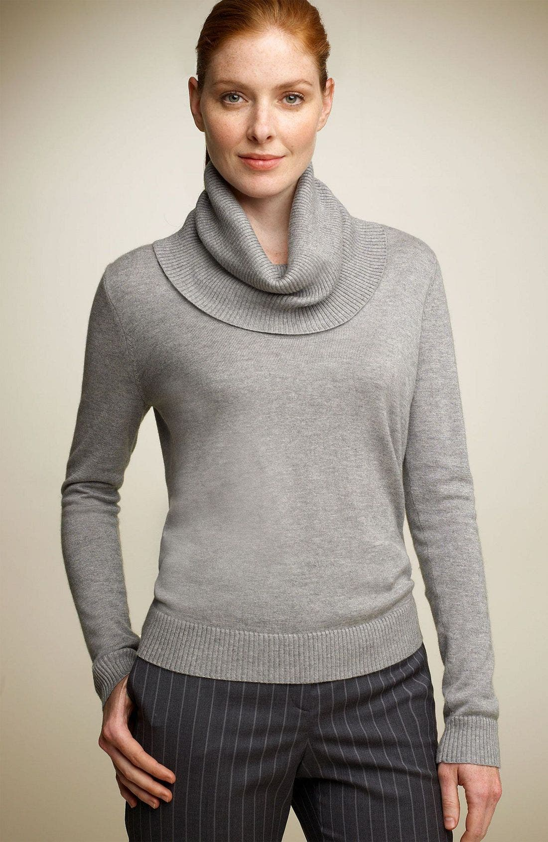 Main Image - Façonnable Draped Turtleneck Sweater