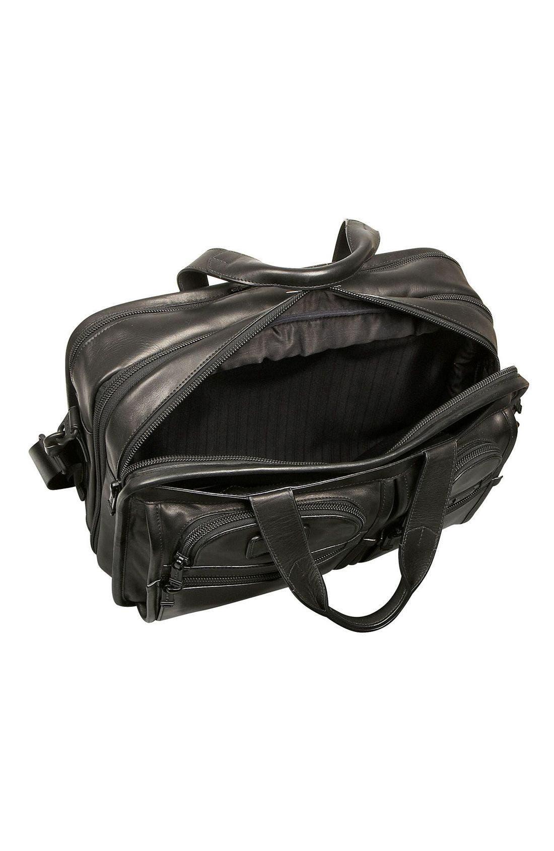 Alternate Image 2  - Tumi 'Alpha' Expandable Organizer Leather Computer Briefcase