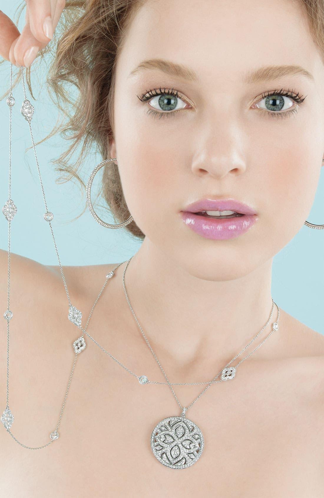 Alternate Image 3  - Nadri Large Pavé Crystal Hoop Earrings