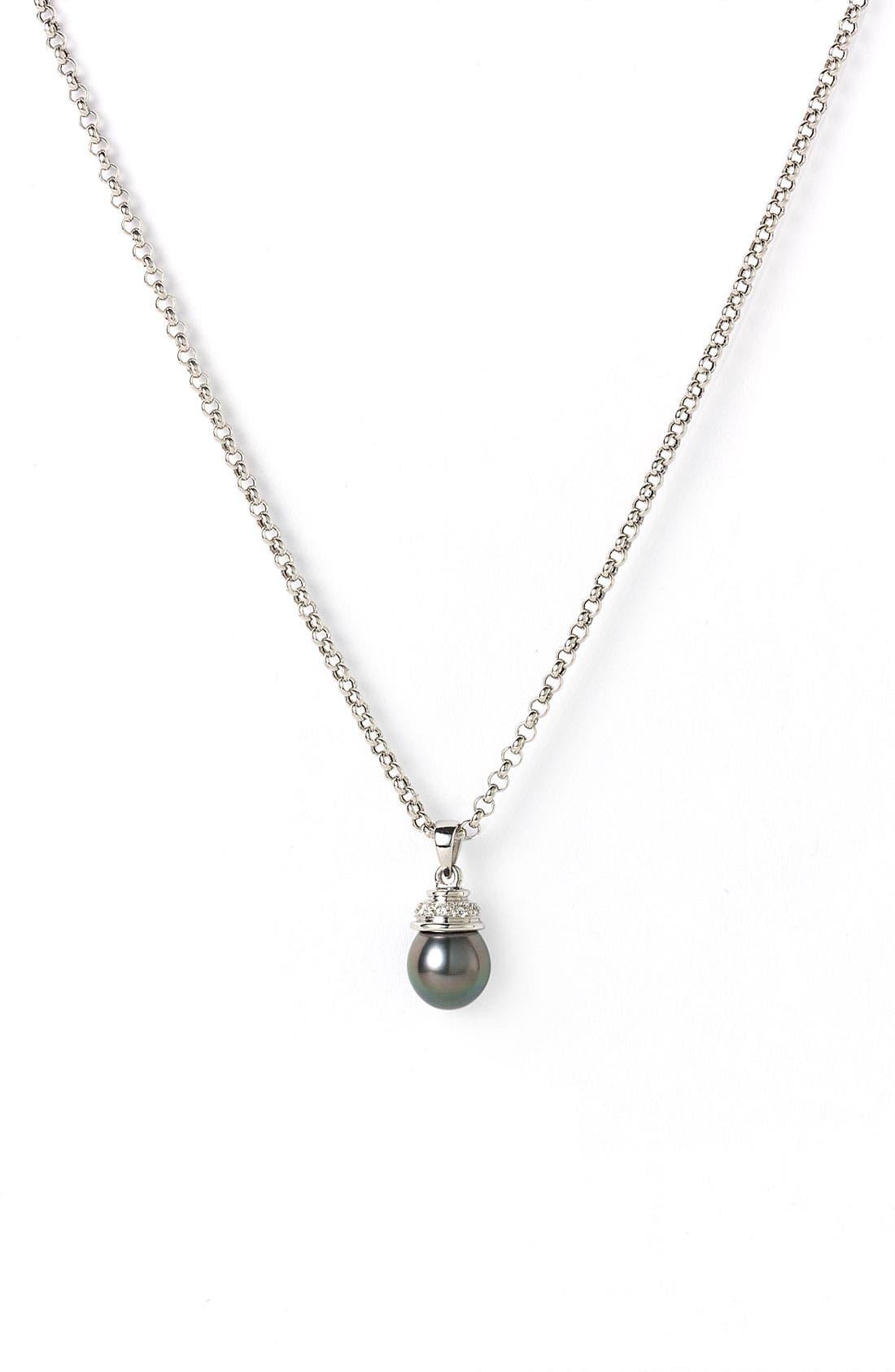 Main Image - Mastoloni Tahitian Pearl Pendant Necklace