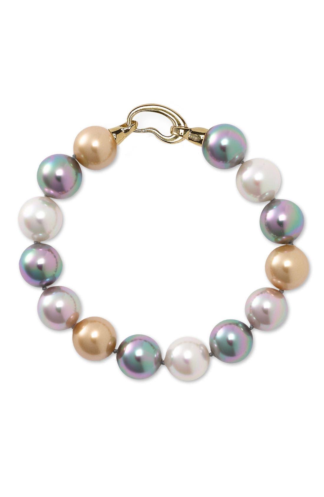 Main Image - Majorica 12mm Faux Pearl Bracelet