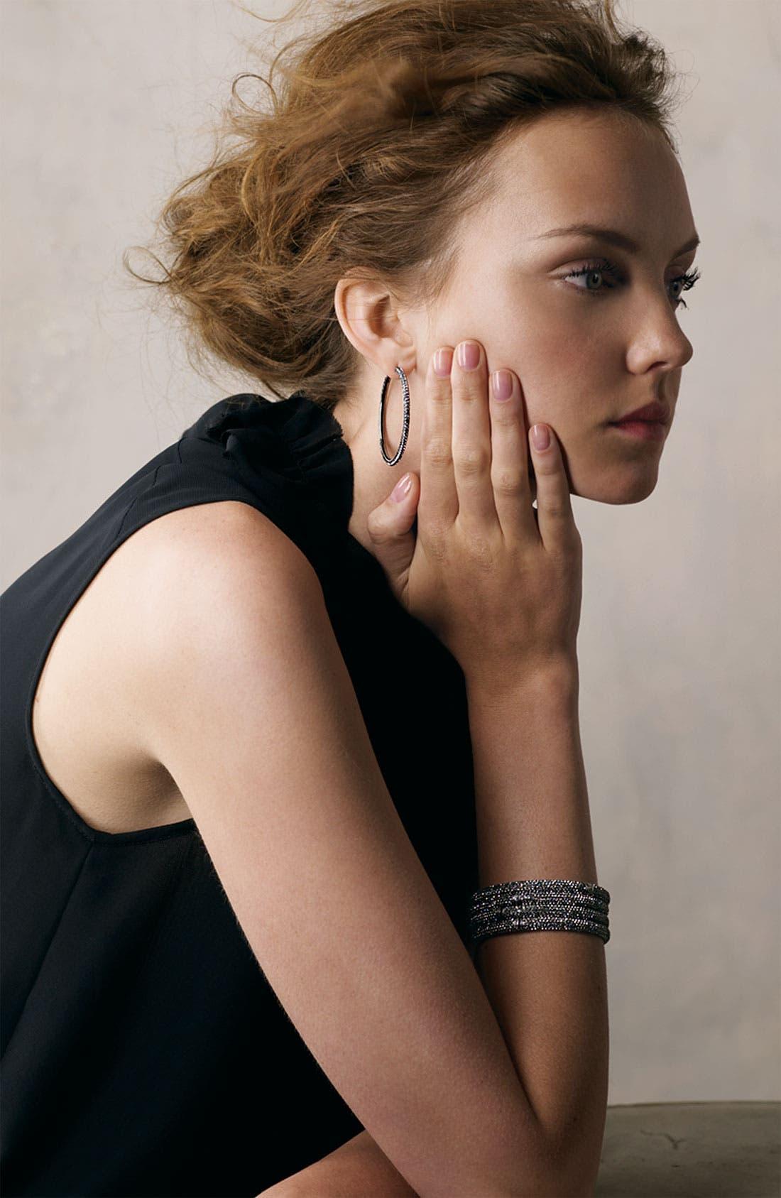 Alternate Image 8  - Nadri Large Pavé Crystal Hoop Earrings