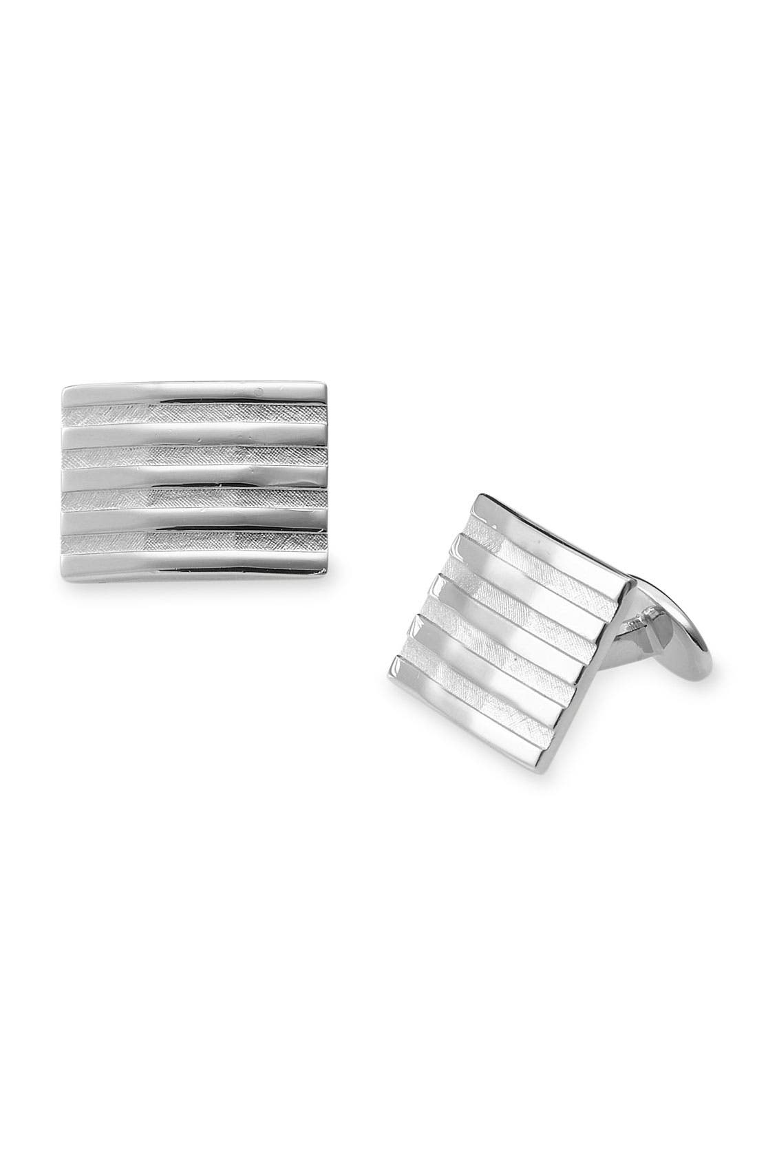 Alternate Image 1 Selected - David Donahue Sterling Silver Cuff Links