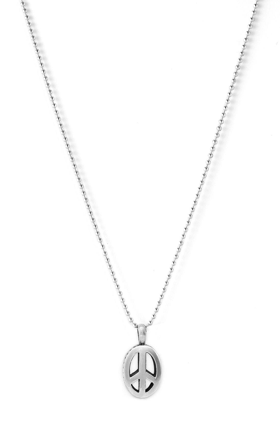 Alternate Image 1 Selected - Lagos Sterling Peace Long Pendant Necklace