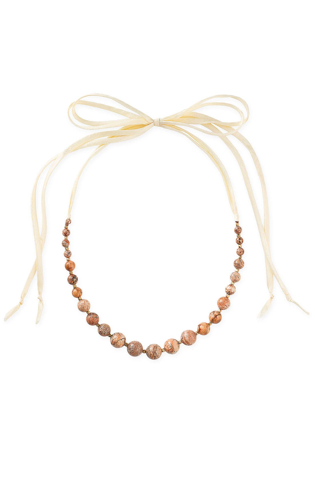 Main Image - Dogeared 'Love Beads' Ribbon Long Necklace