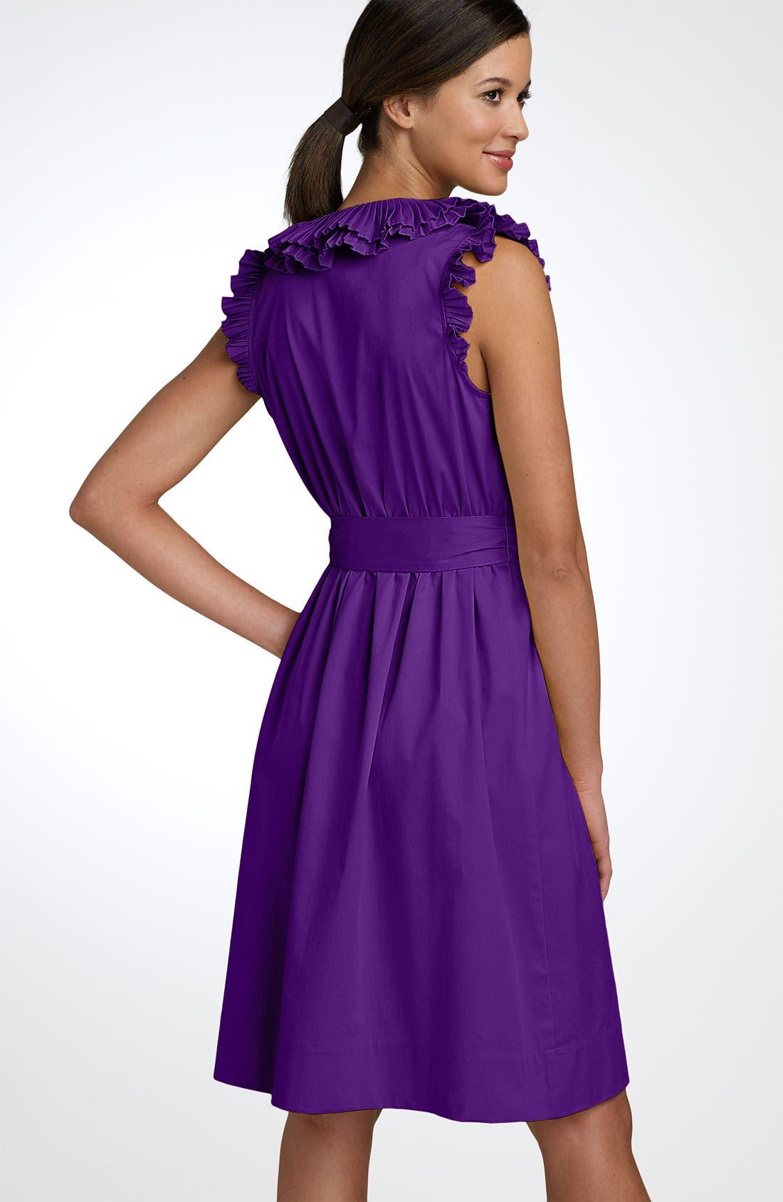 Alternate Image 2  - Max & Cleo Pleated Ruffle Wrap Dress
