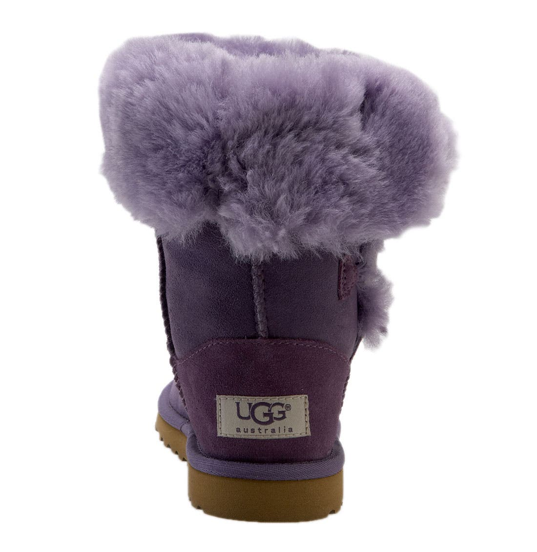 Alternate Image 4  - UGG® 'Bailey Button Triplet' Boot (Little Kid & Big Kid)