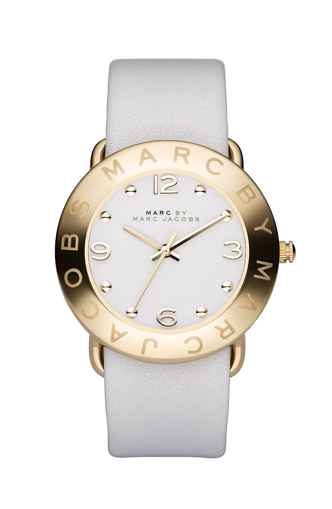Main Image - MARC JACOBS 'Amy' Leather Strap Watch, 36mm