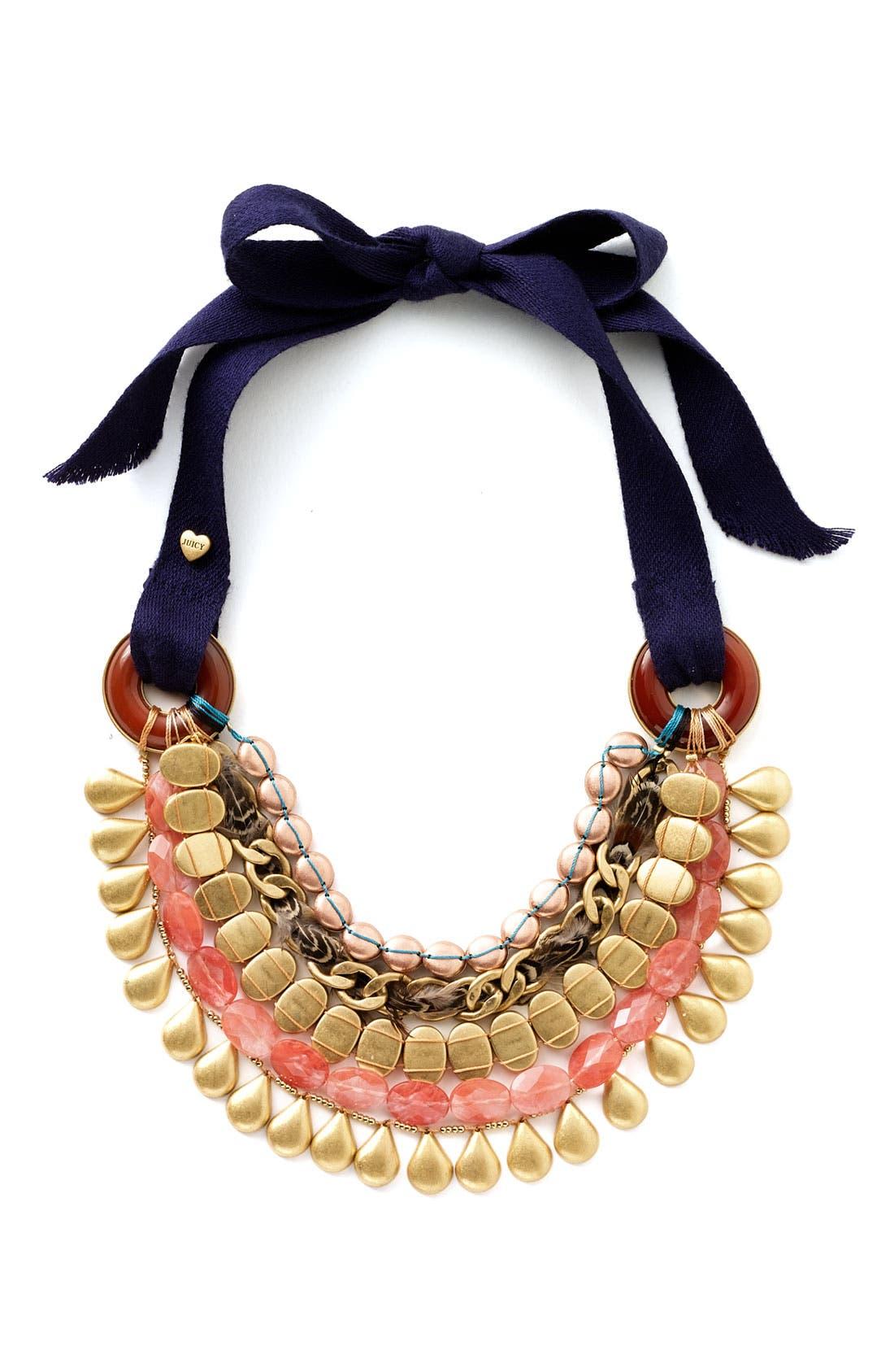 Main Image - Juicy Couture 'Modern Nostalgia' Beaded Bib Necklace