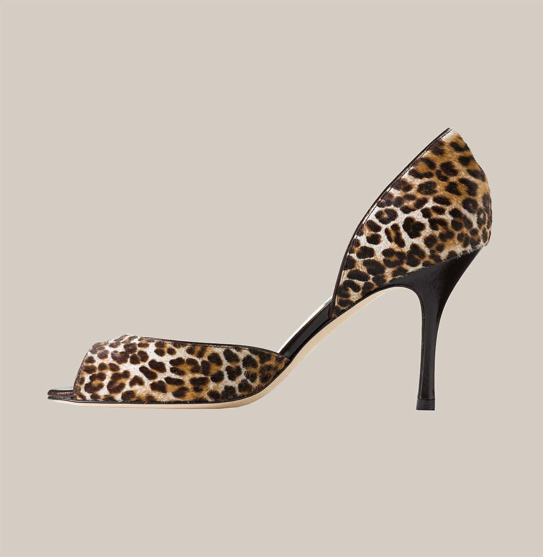 Alternate Image 2  - Jimmy Choo Leopard Print Calf Hair d'Orsay Pump