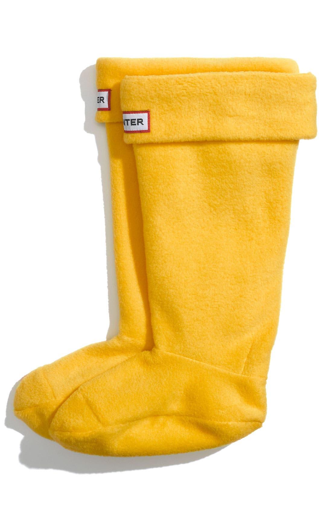 Alternate Image 1 Selected - Hunter Fleece Welly Socks (Baby Girls, Toddler Girls, Little Girls & Big Girls)