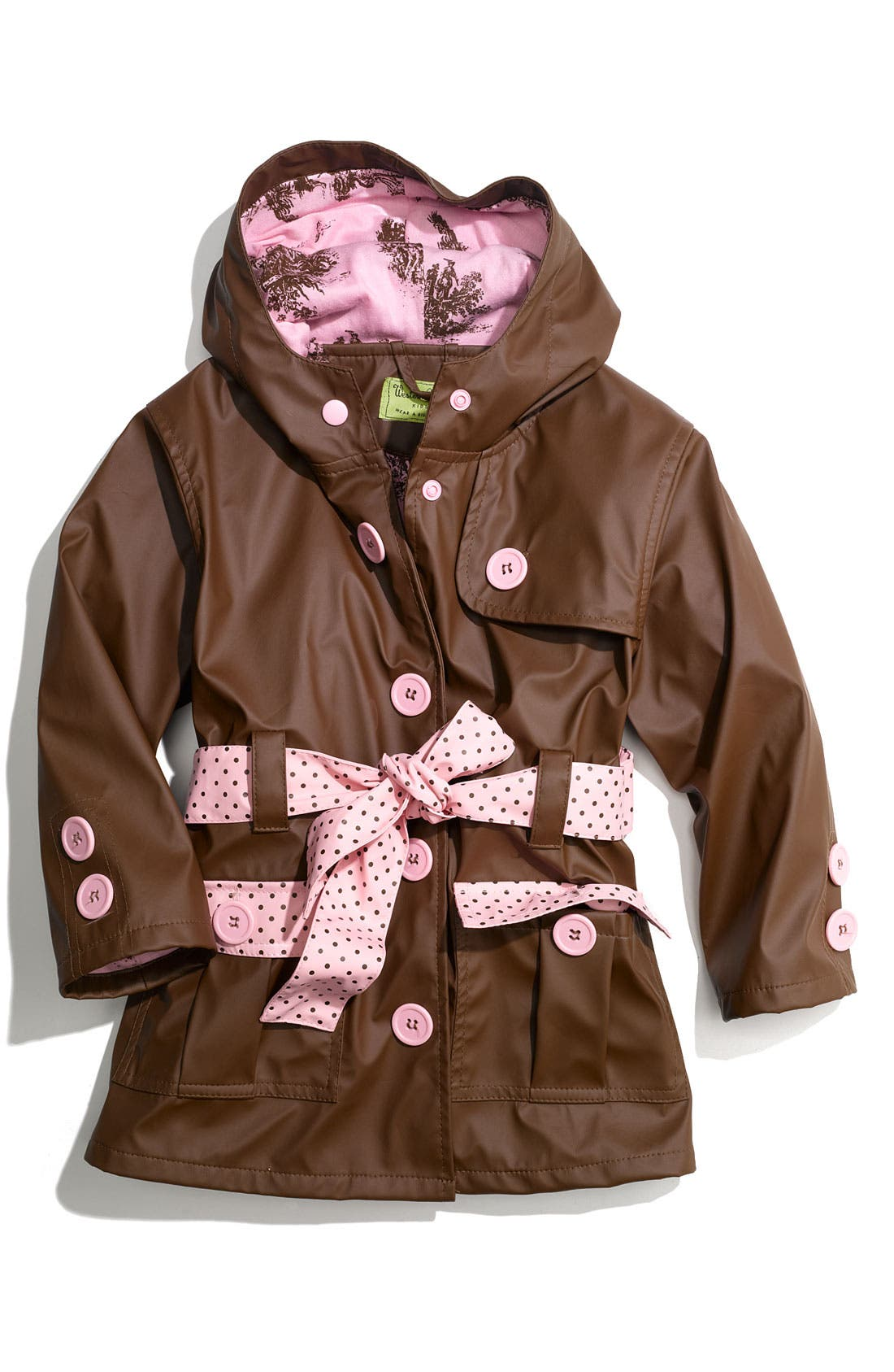Main Image - Western Chief 'Frenchy French' Raincoat (Toddler Girls & Little Girls)