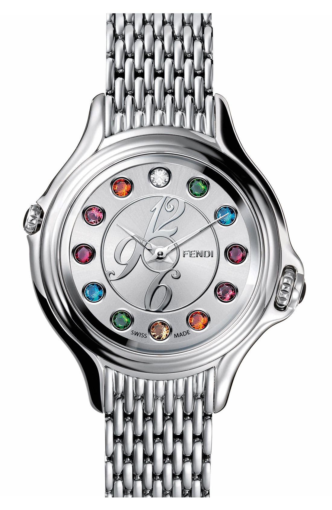 Main Image - Fendi 'Crazy Carats' Bracelet Watch, 38mm