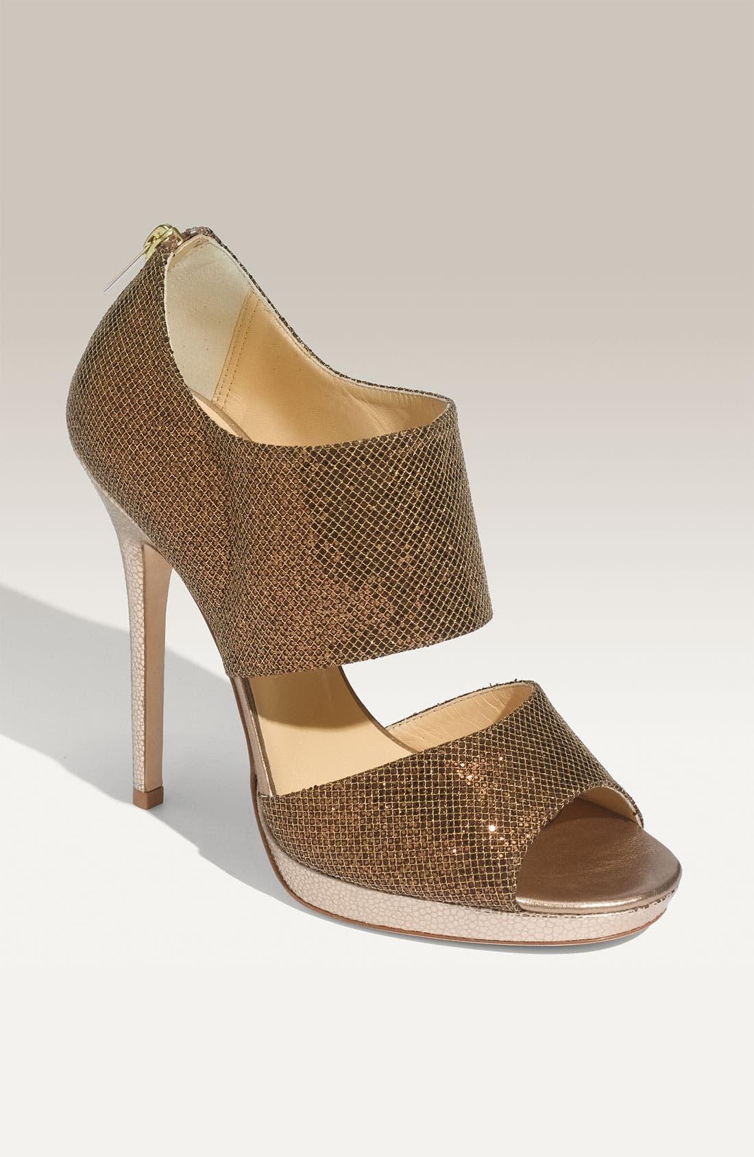 Main Image - Jimmy Choo 'Private' Cuff Glitter Fabric Sandal