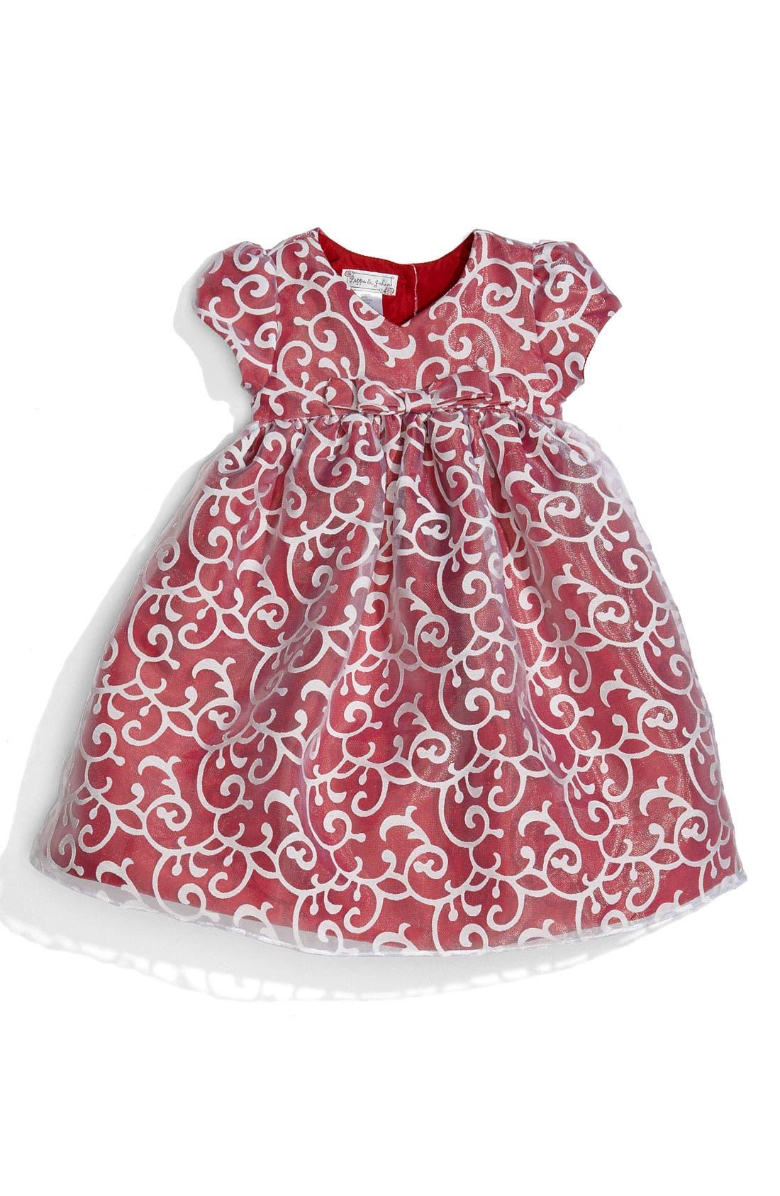Alternate Image 1 Selected - Pippa & Julie Sateen Dress (Infant)
