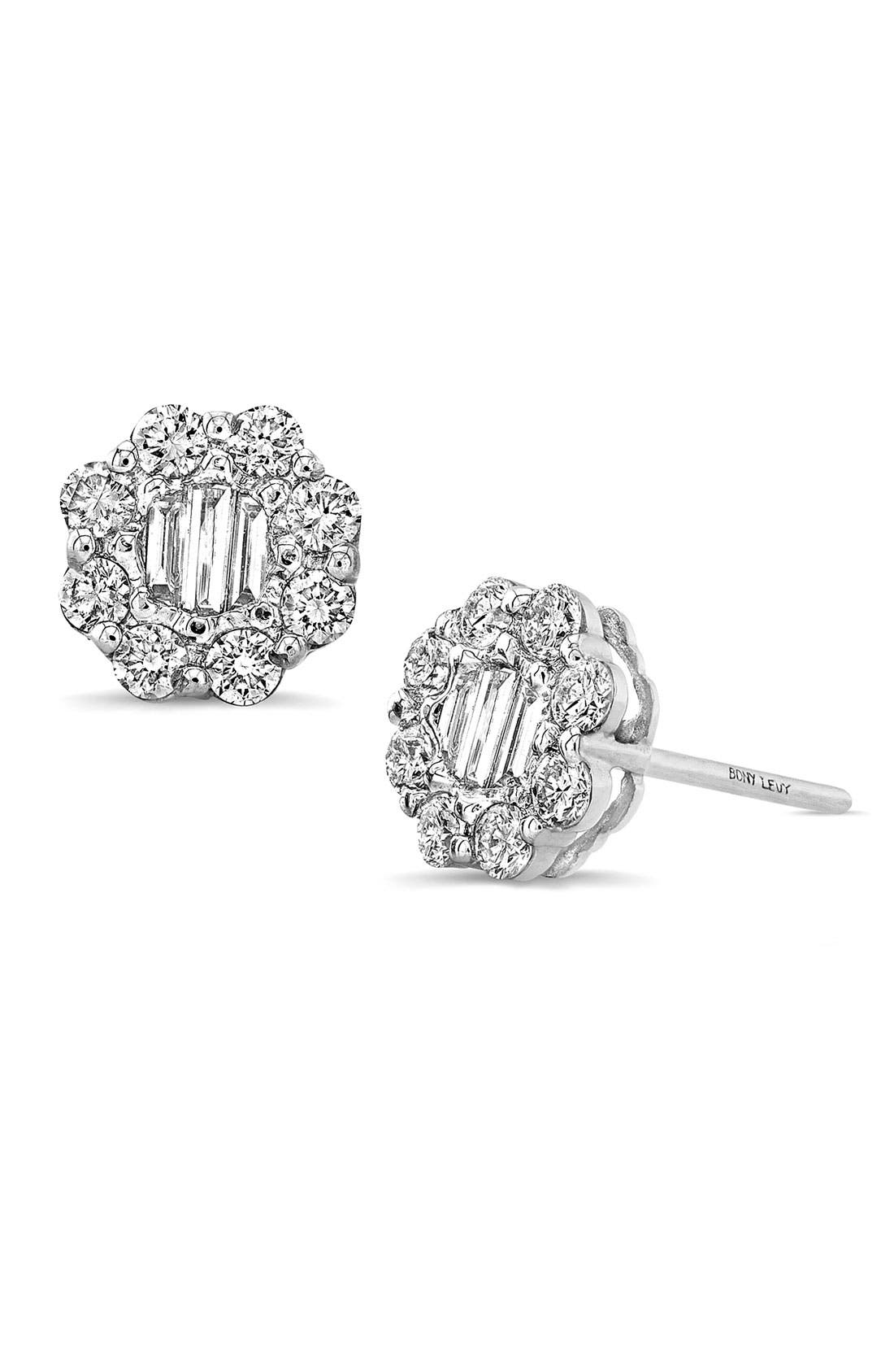 Main Image - Bony Levy Diamond Flower Earrings (Nordstrom Exclusive)