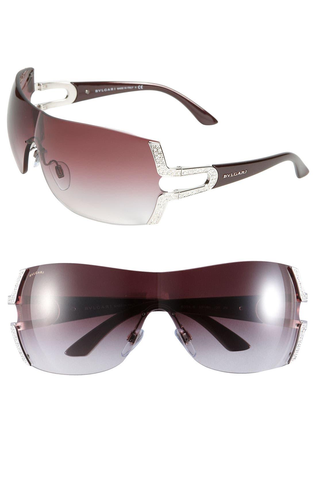 Alternate Image 1 Selected - BVLGARI Parentesi Motif Shield Sunglasses