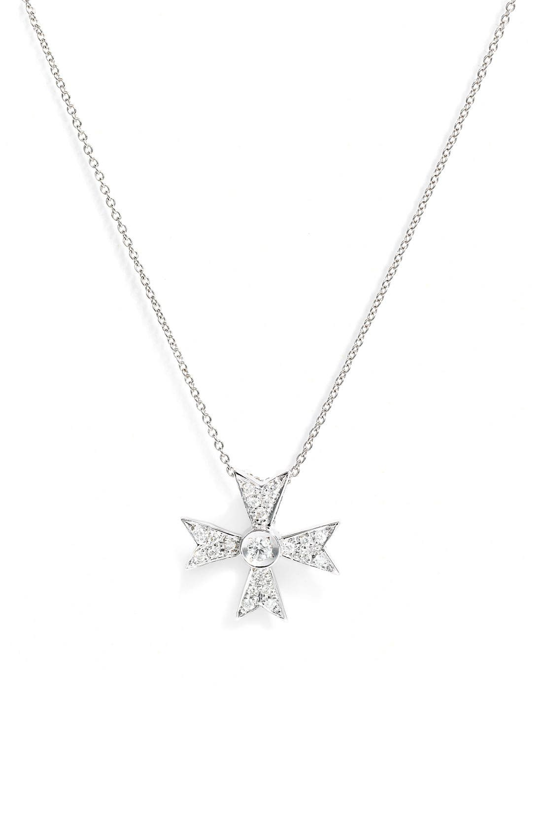 Alternate Image 1 Selected - Roberto Coin 'Tiny Treasures' Diamond Cross Necklace