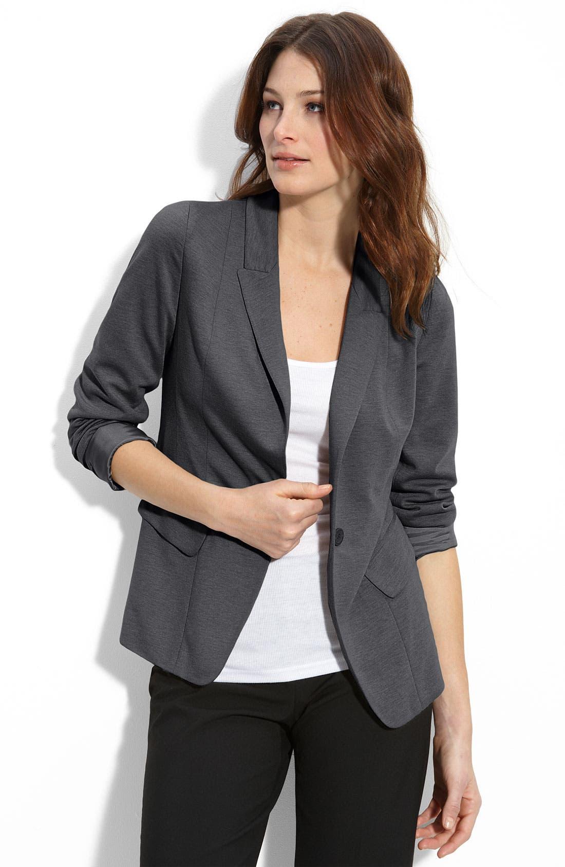 Alternate Image 1 Selected - Halogen® Jersey Boyfriend Blazer
