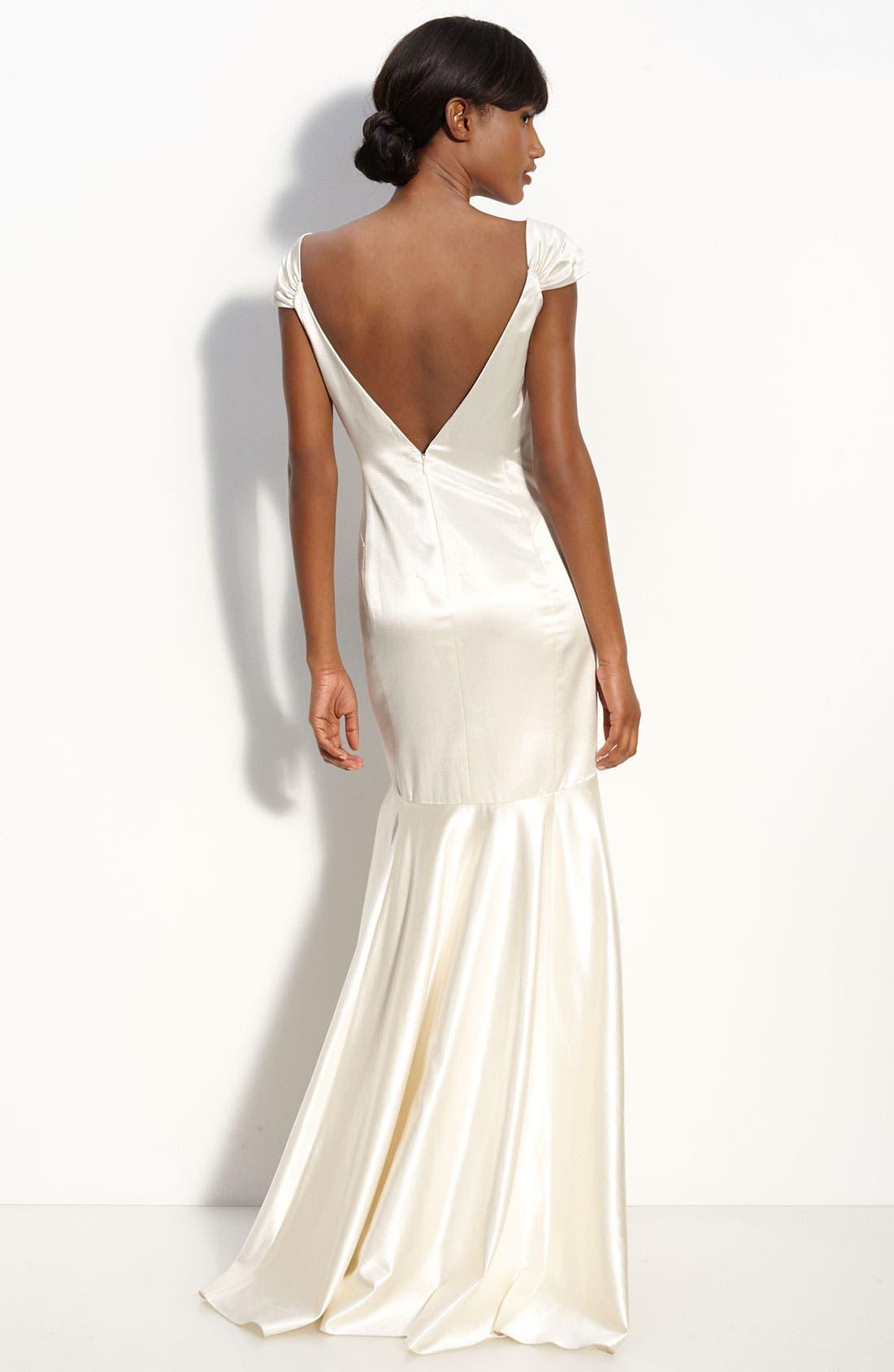 Alternate Image 2  - Milly Satin Mermaid Gown