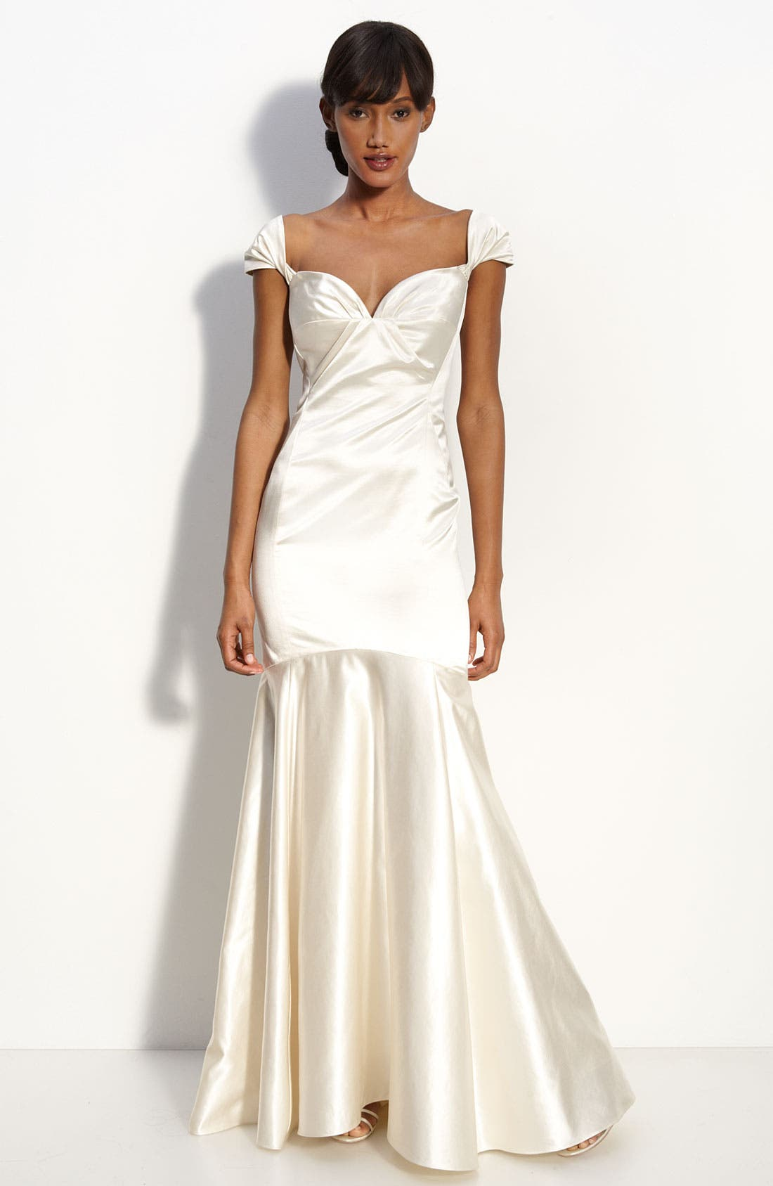 Alternate Image 1 Selected - Milly Satin Mermaid Gown