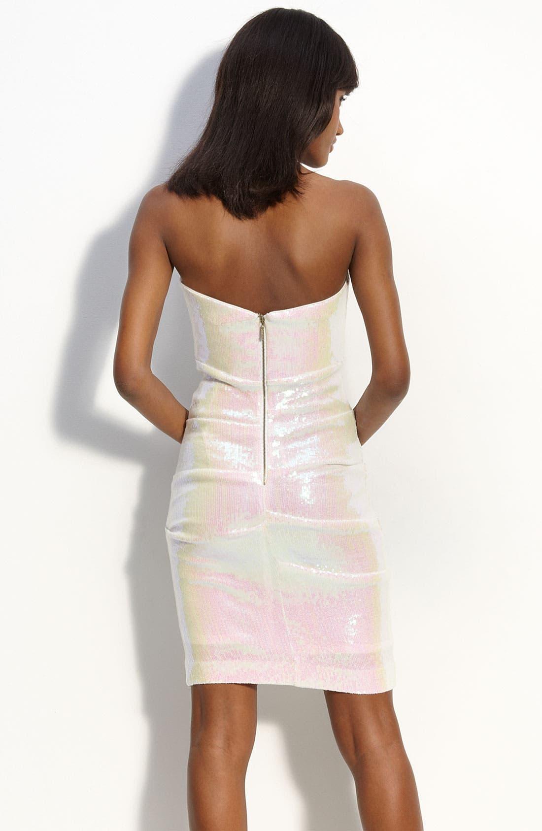 Alternate Image 2  - Nicole Miller Pintuck Sequin Sheath Dress