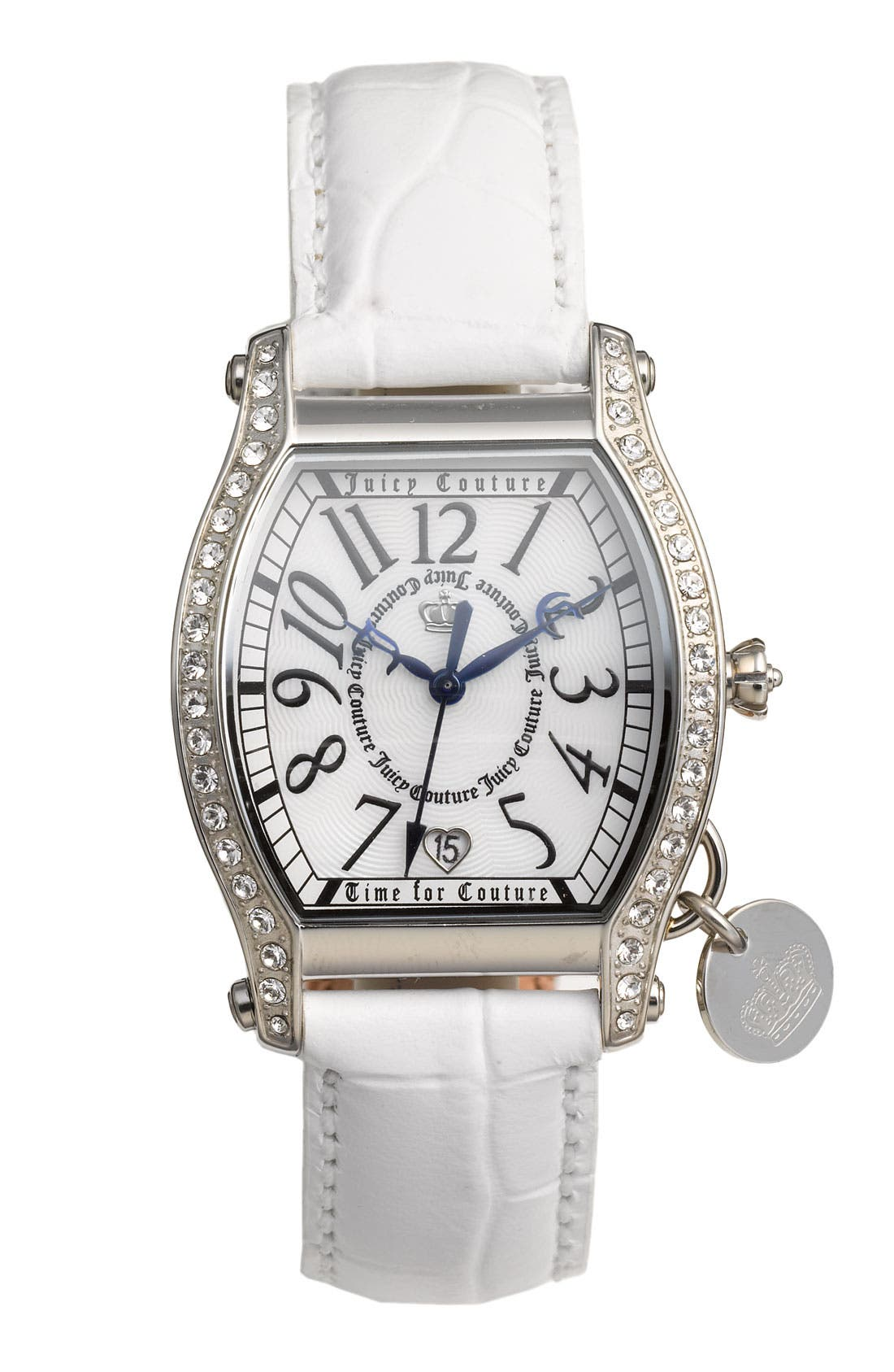Alternate Image 1 Selected - Juicy Couture 'Dalton' Leather Strap Watch