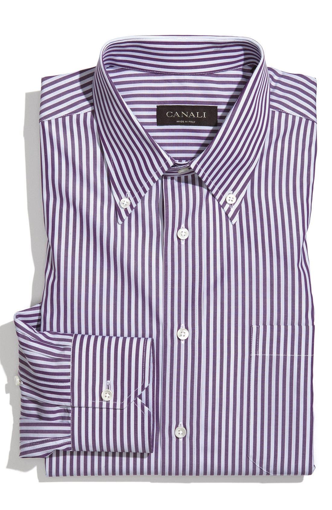 Alternate Image 1 Selected - Canali Regular Fit Dress Shirt