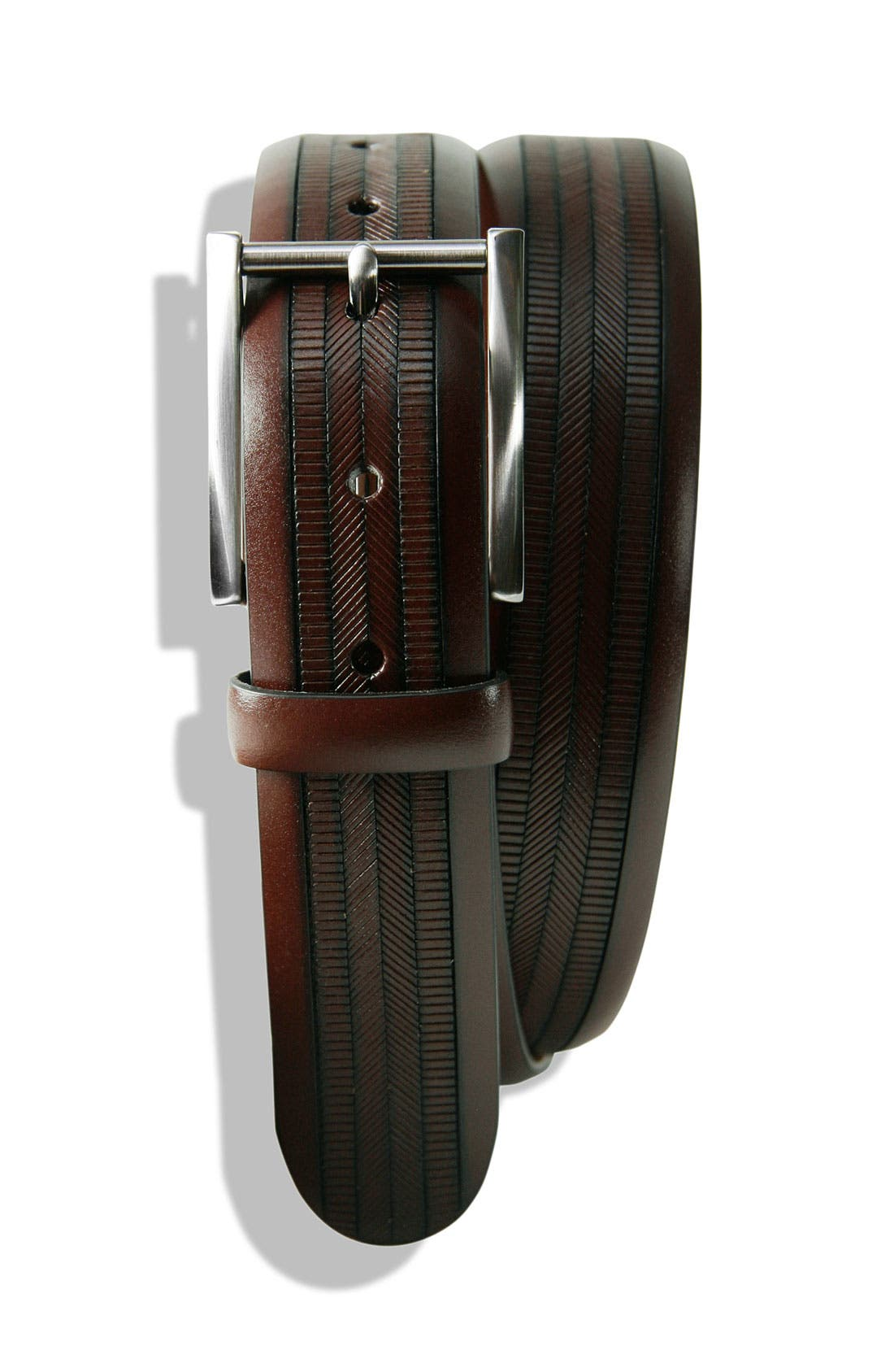 Alternate Image 1 Selected - Trafalgar 'Bentley' Embossed Leather Belt