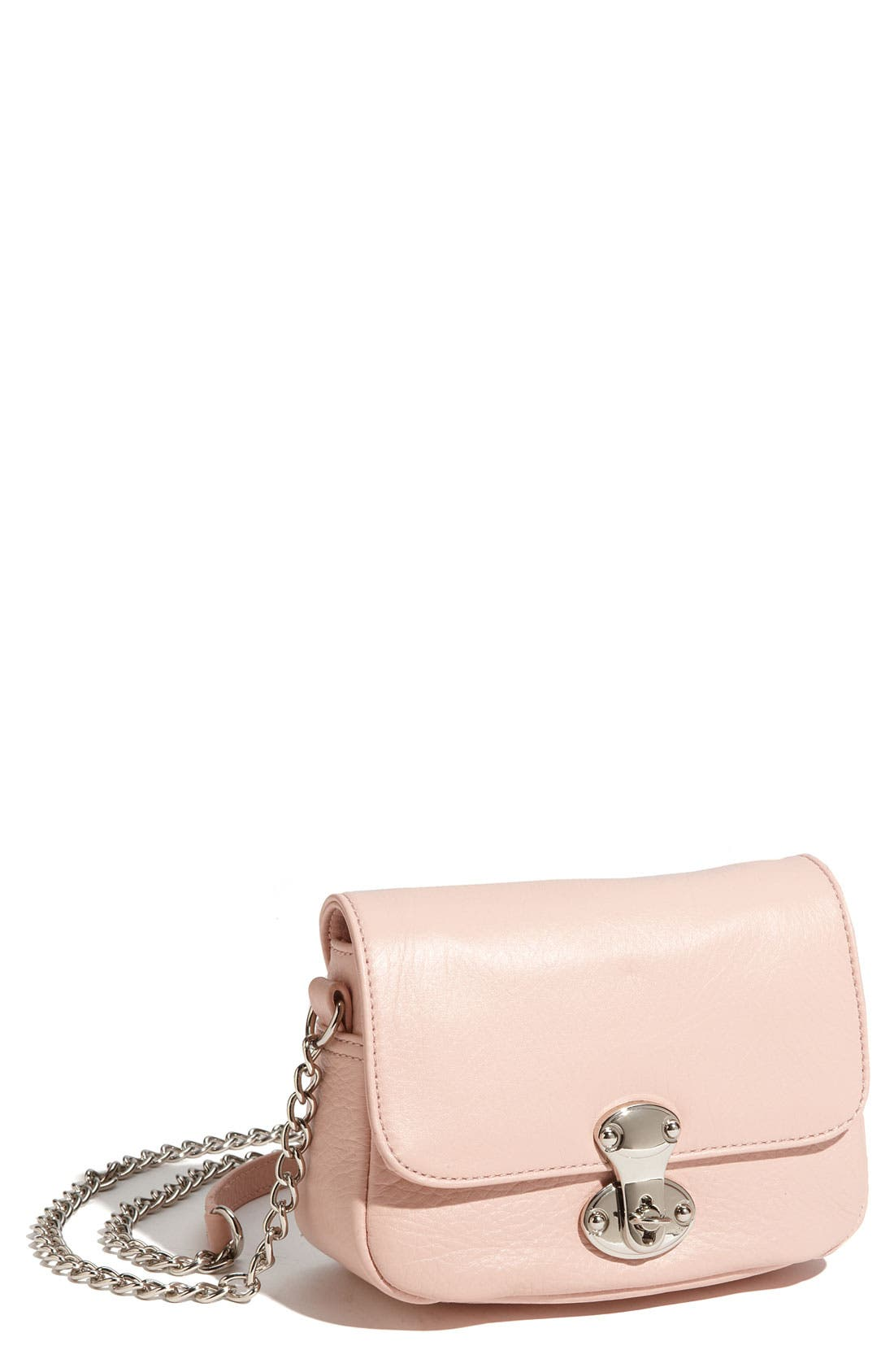 Alternate Image 1 Selected - Franchi Leather Flap Crossbody Bag
