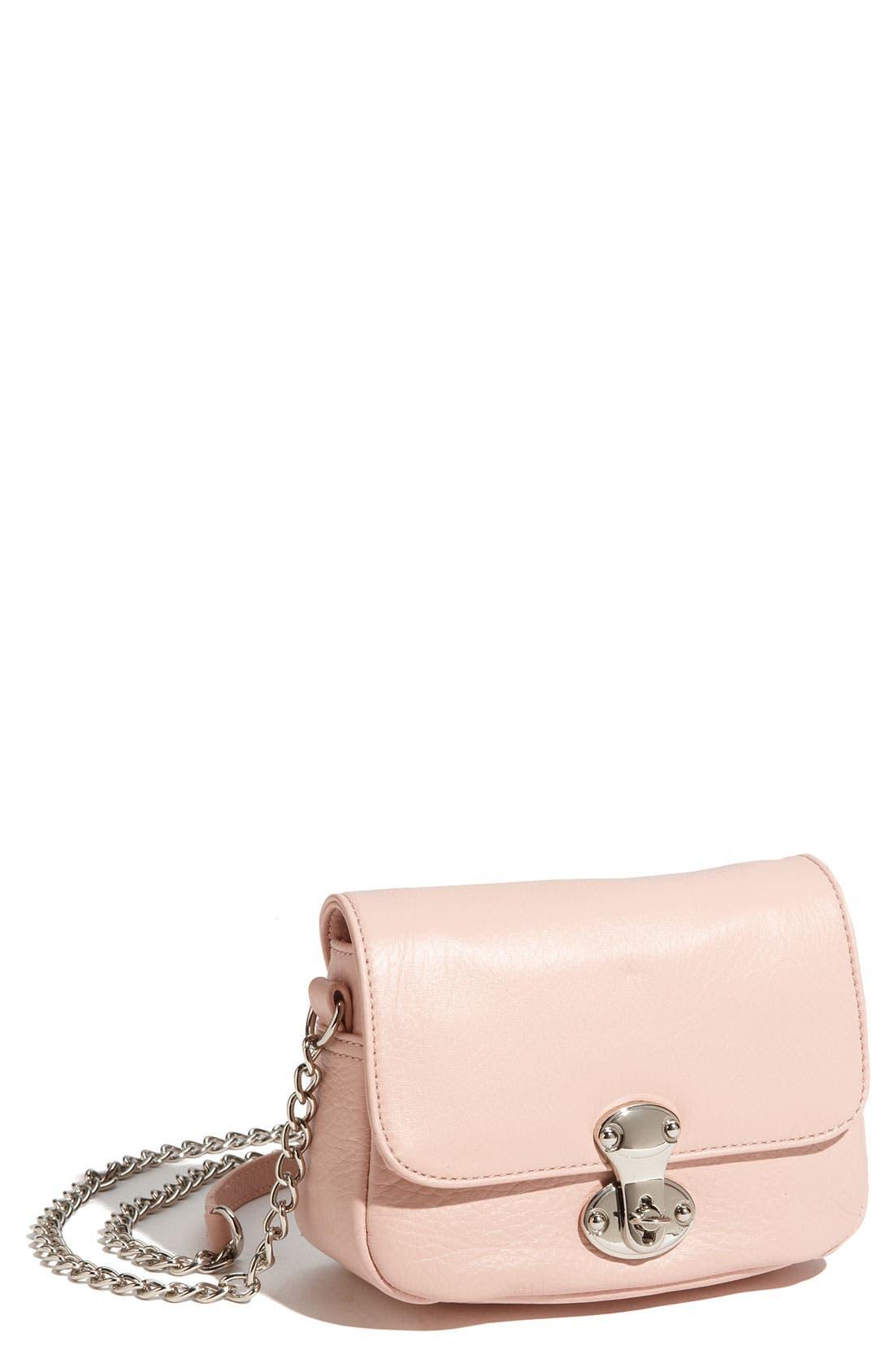 Main Image - Franchi Leather Flap Crossbody Bag
