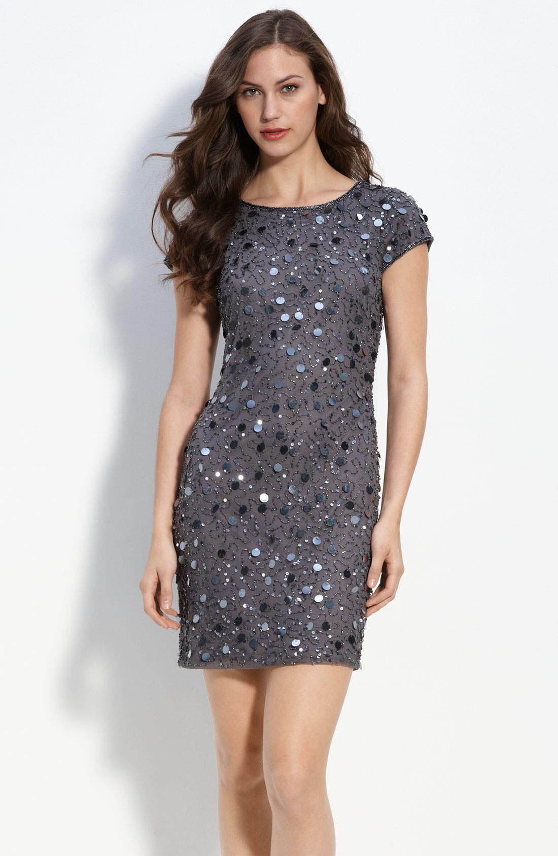 Main Image - Pisarro Nights Beaded Sheath Dress