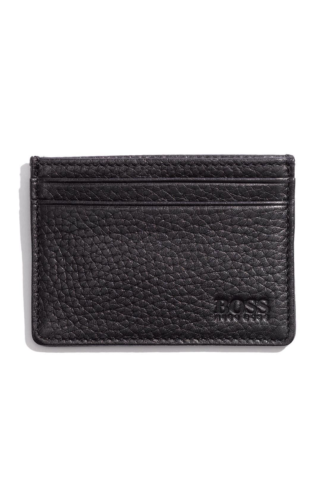 Alternate Image 1 Selected - BOSS HUGO BOSS 'Bradenton' Leather Card Case