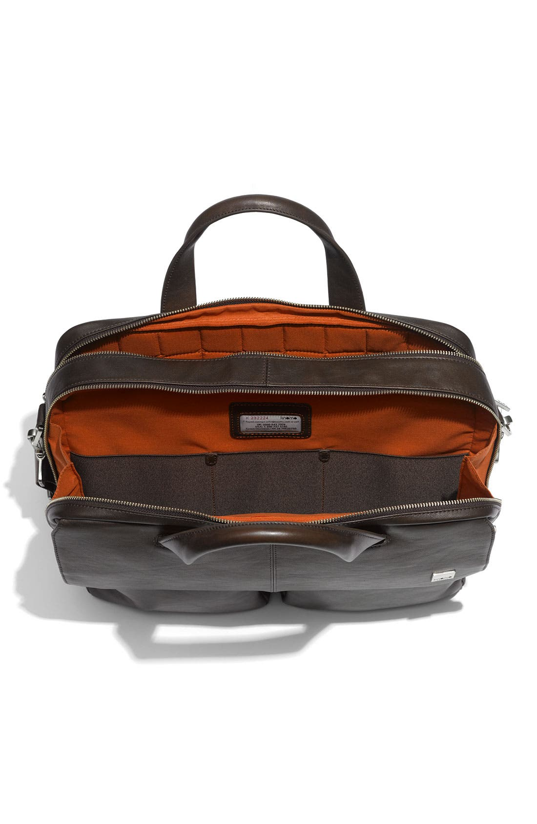 Alternate Image 3  - KNOMO London 'Warwick' Double Compartment Leather Briefcase