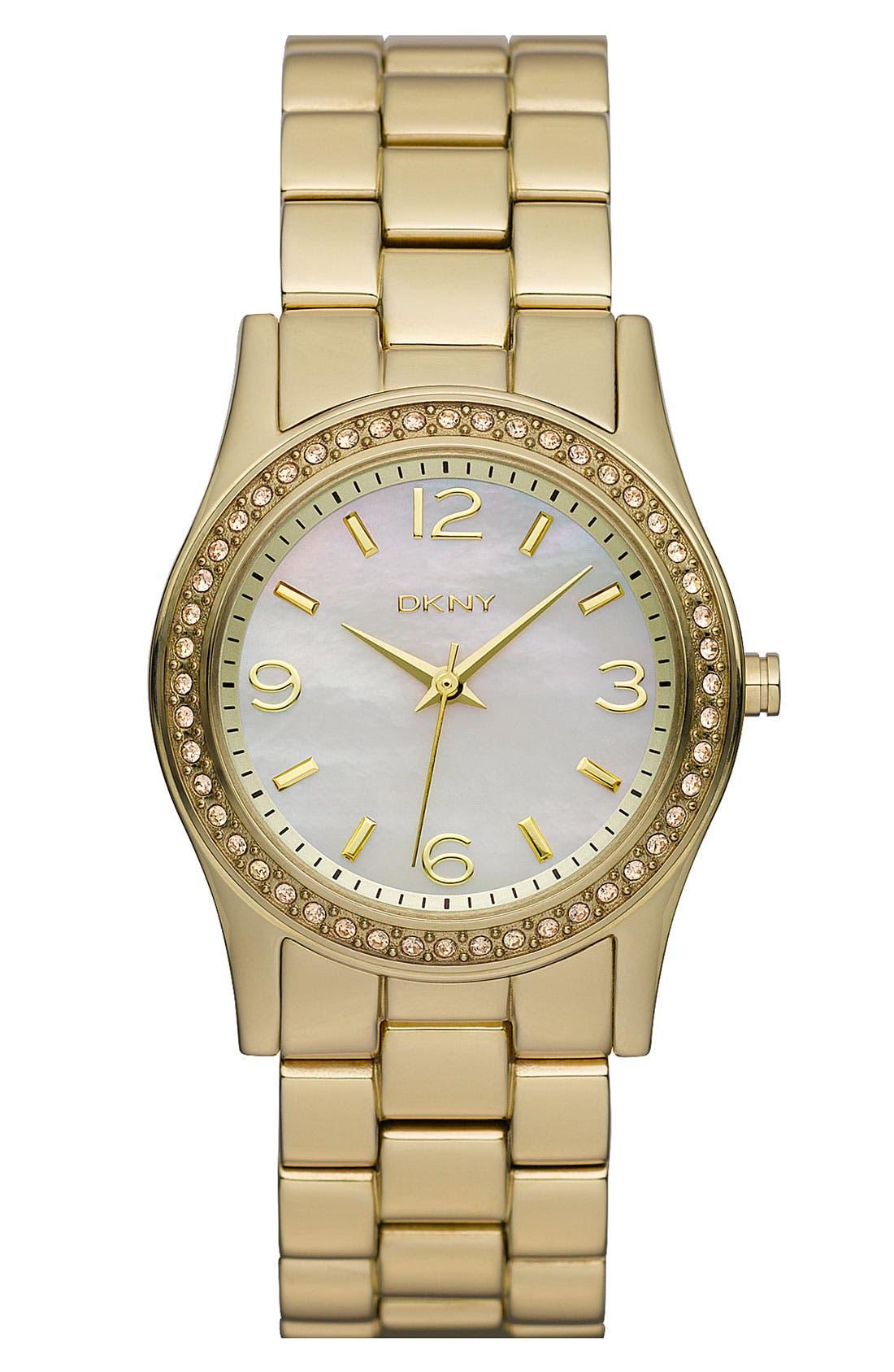 Main Image - DKNY Round Bracelet Watch, 32mm