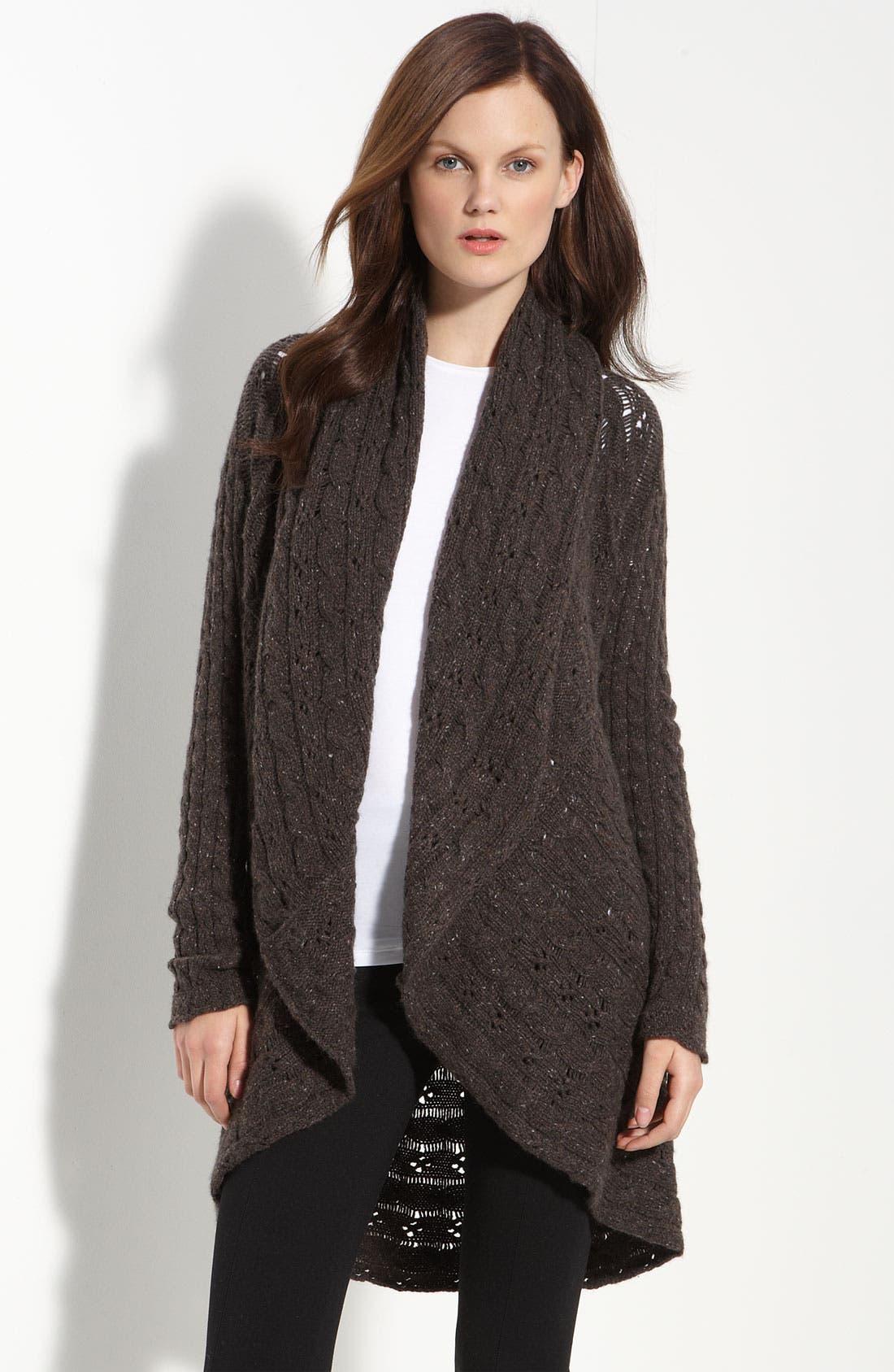 Alternate Image 1 Selected - autumn cashmere Pointelle Knit Cashmere Cardigan