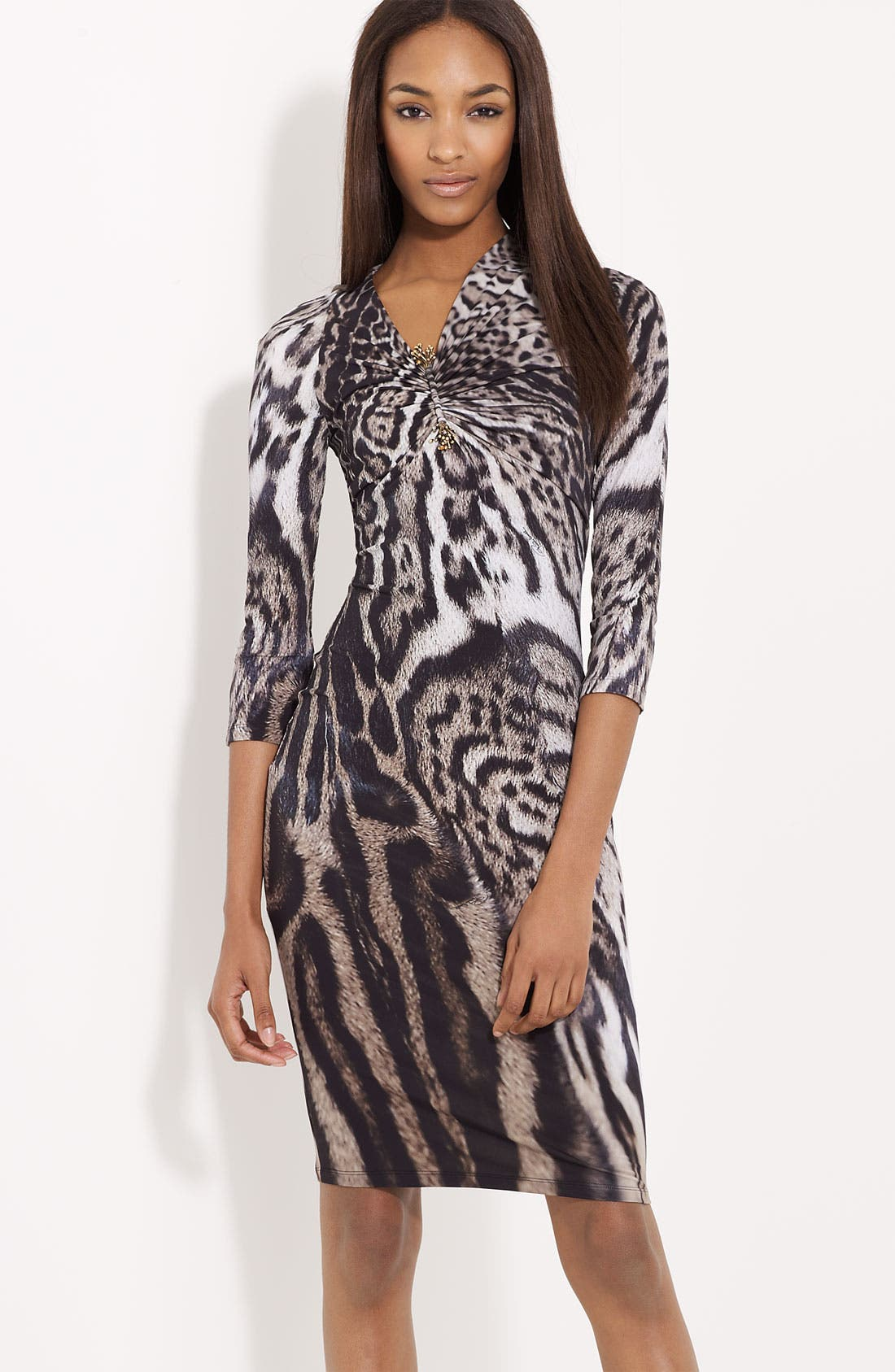 Main Image - Roberto Cavalli Animal Print Dress