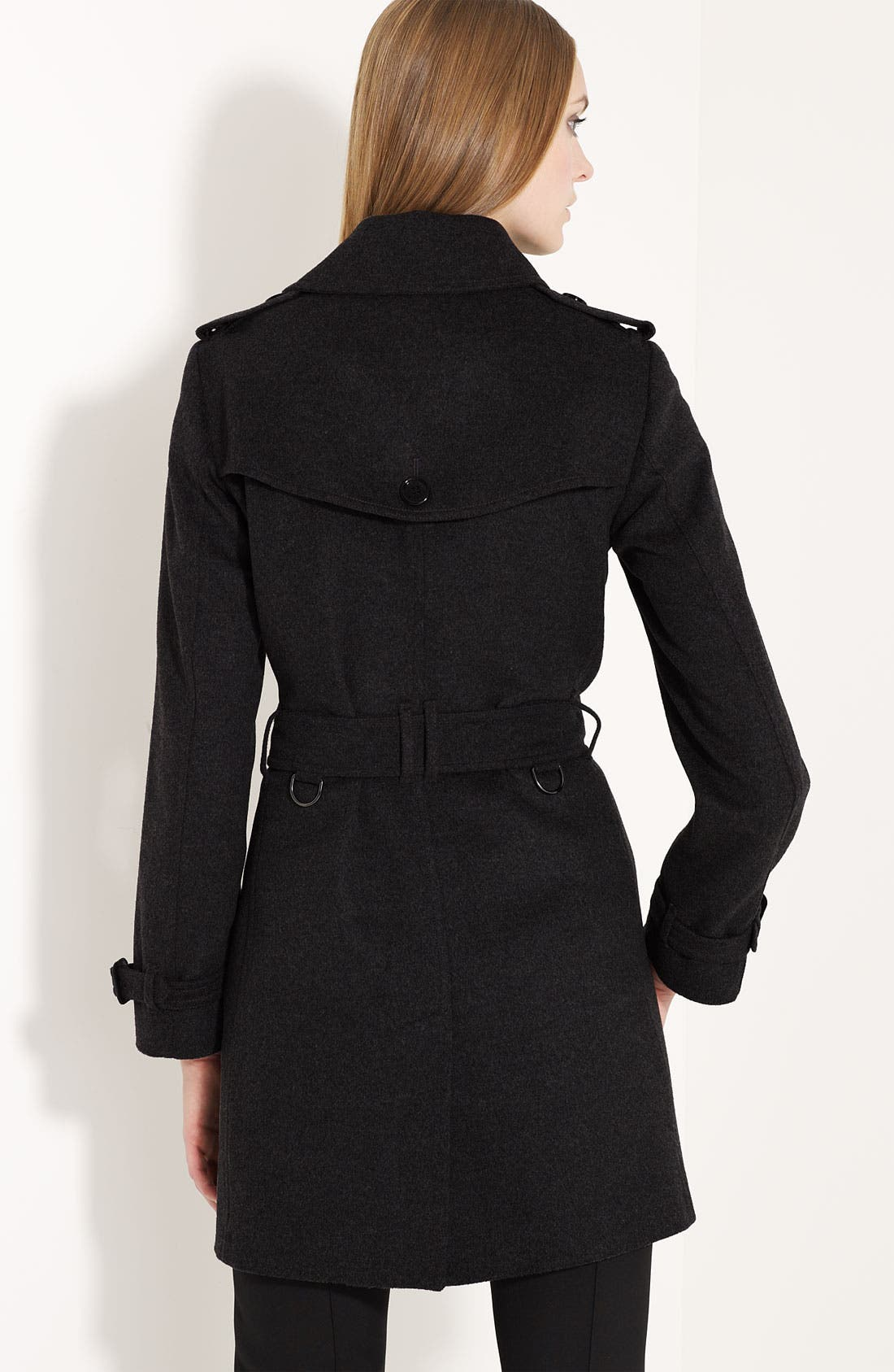 Alternate Image 2  - Burberry London Belted Wool & Cashmere Trench Coat