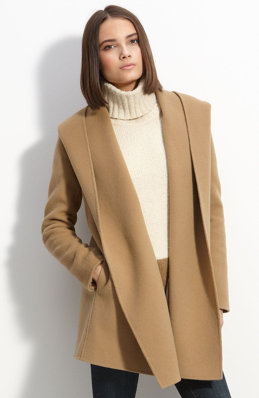 Main Image - Vince Double Face Wool Blend Jacket with Hood