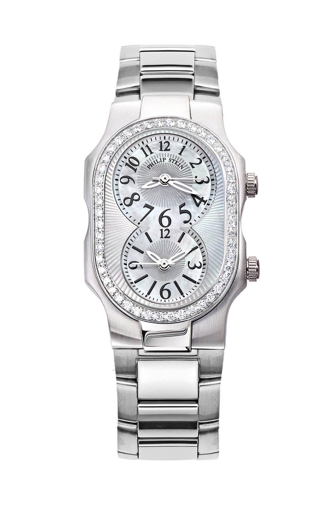 Alternate Image 2  - Philip Stein® 'Signature' Small Diamond & Mother-of-Pearl Watch Case