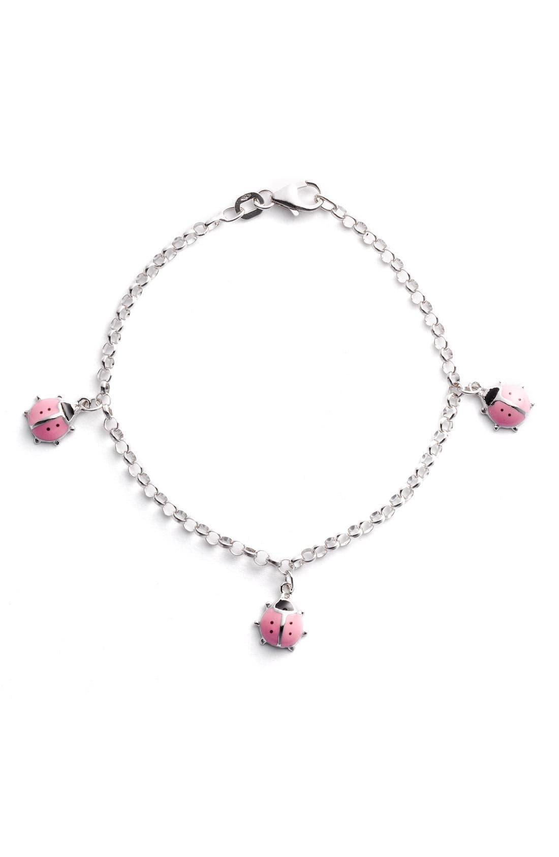 Alternate Image 1 Selected - Marathon Ladybug Charm Bracelet (Infant)