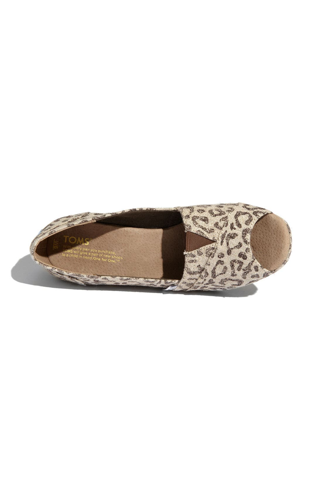 Alternate Image 3  - TOMS 'Snow Leopard' Burlap Wedge
