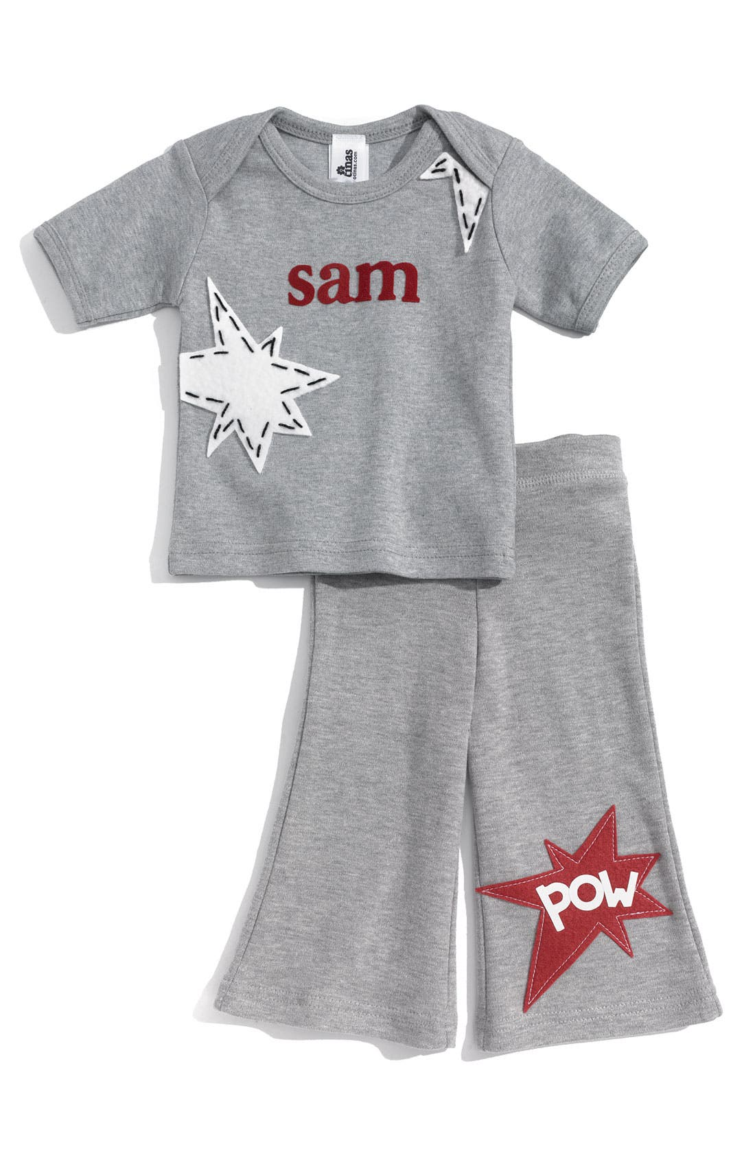 Alternate Image 1 Selected - Two Tinas Personalized T-Shirt & Pants Set (Baby)