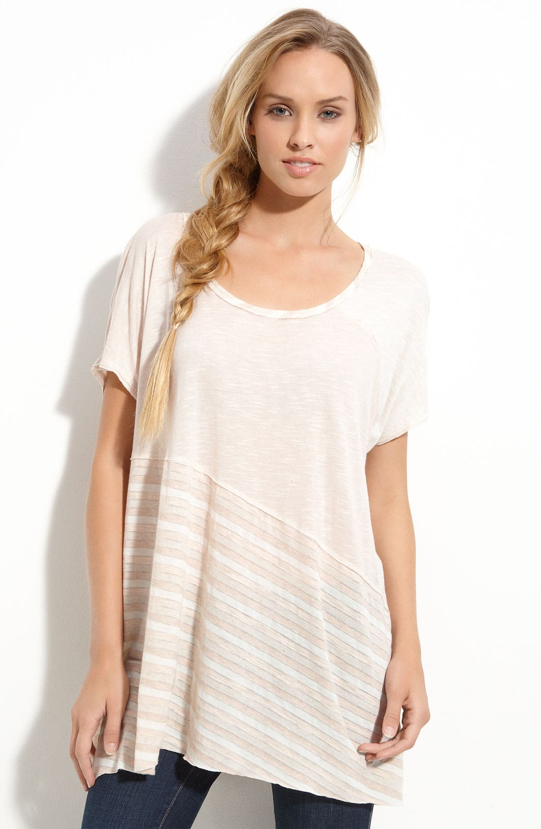Main Image - Free People 'Pieced Jammy' Short Sleeve Top