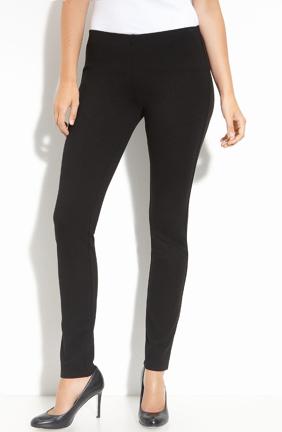 Alternate Image 1 Selected - Eileen Fisher Slim Ponte Knit Pants (Regular & Petite)
